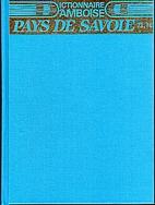 Dictionnaire d'Amboise Tome 1 : Pays de…