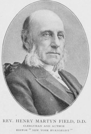 Author photo. Rev. Henry Martyn Field (1822-1907). Image from <b><i>Notable New Yorkers of 1896-1899 : a companion volume to King's handbook of New York City</i></b> (1899) by Moses King