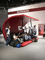 Author photo. Konami booth @ Leipzig Games Convention 2006, photo by Conny Liegl