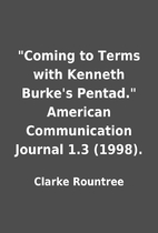 Coming to Terms with Kenneth Burke's…