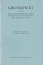 Grondwet voor de Orde van Vrijmetselaren…