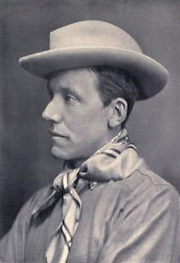 Author photo. Hesketh Prichard from the frontispiece of his 1910 book Hunting camps in wood and wilderness.