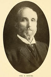Author photo. George F. Rosche. Portrait from page 336 of Biography of Gospel song and hymn writers (1914) by Jacob Henry Hall