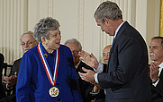 Author photo. Fay Ajzenberg-Selove receives the National Medal of Science (National Science Foundation)