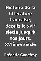 Histoire de la littérature française,…