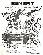Benefit May 21st Riot Defense Fund Flier…