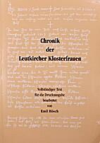Chronik der Leutkircher Klosterfrauen by…