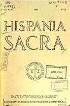Hispania Sacra: Revista de Historia…