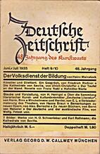 Deutsche Zeitschrift 48. Jahrgang Heft 9/10…
