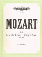 Mozart 12 (KV487) Easy Duets (for 2 Violin)…