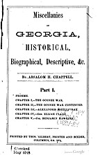 Miscellanies of Georgia, historical,…