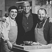 Author photo. Michel Richard (A droite) en compagnie d'Emeril Lagasse (Au centre) et du jouer de soccer (Diego Maradona (à gauche)
