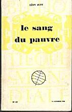 Le sang du pauvre by Léon Bloy