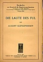 Die Laute des Ful by August Klingenheben