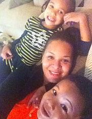 Author photo. Author Jasmine Williams and her children.