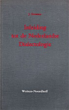 Inleiding tot de Nederlandse dialectologie…