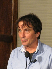Author photo. Nick Flynn at Lannan Poetry Series, 22 October 2013 / Photo by Slowking
