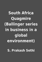 South Africa Quagmire (Ballinger series in…