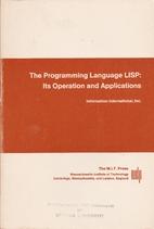 The Programming Language LISP: Its Operation…
