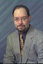 Author photo. Bill Slavicsek in 80's.