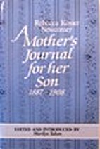 A mother's journal for her son (1887-1908)…