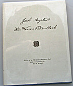 Jacob Angstadt His Weavers Patron Book by…