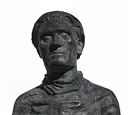 Author photo. Statue of Stefan George, Bingen am Rhein, Germany.  Photo by user E.peiffer@gmx.net / Wikimedia Commons.