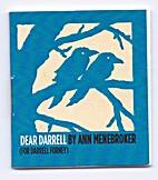 Dear Darrell by Ann Menebroker