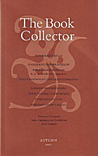The Book Collector Vol. 60 No. 3 (Autumn…