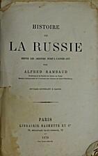 Histoire de la Russie depuis les origines…