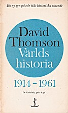 World History 1914-1961 by David Thomson