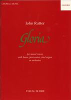 Gloria Vocal Score With Brass by John Rutter