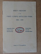 A Brief History of the First Corps Artillery…