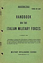 Handbook on the Italian military forces. TME…