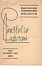 Shuttle Craft Guild Handweaver's Bulletin…
