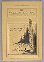 The Museum journal: Vol. IX, No.1