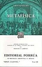 Metafísica by Aristóteles