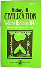 History of Civilization, Vol. II: Since 1648…