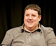 Author photo. Peter Kay comedy masterclass at University of Salford 12 December 2012 / University of Salford Press Office