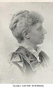 Author photo. Clara Louise Root Burnham (1854-1927) Buffalo Electrotype and Engraving Co., Buffalo, N.Y.