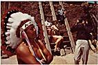 Colorful Indian at Pueblo by Harvey Caplin