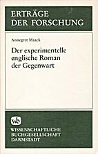 Der experimentelle englische Roman der…