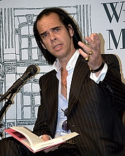 Author photo. Nick Cave at the Union Square Barnes & Noble to read from his new book, The Death of Bunny Munro. Photo by David Shankbone