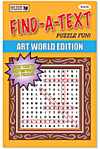FIND-A-TEXT Puzzle Fun: ART WORLD EDITION by…