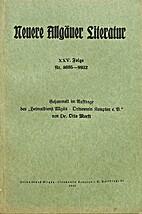 Neuere Allgäuer Literatur XXV. Folge Nr.…
