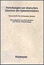 Forschungen zur deutschen Literatur des…
