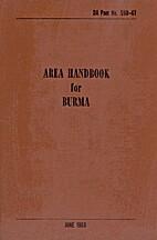 Area Handbook for Burma
