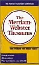 The Merriam Webster Thesaurus by…