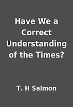 Have We a Correct Understanding of the…