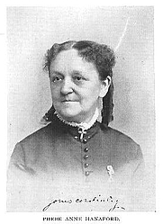 Author photo. Phebe Anne Hanaford (1829-1921), Buffalo Electrotype and Engraving Co., Buffalo, N.Y.